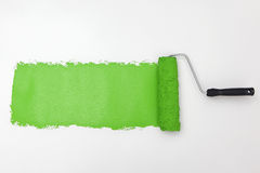 Green paint roller Royalty Free Stock Image