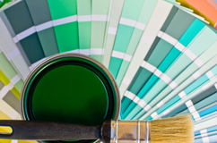 Green paint sample. Royalty Free Stock Photos