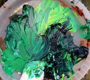 green paint smear Royalty Free Stock Image