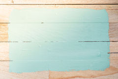 Green paint space  on wood background Stock Photography