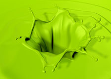 Green paint splash Royalty Free Stock Images