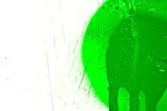 Green paint splatter Stock Image