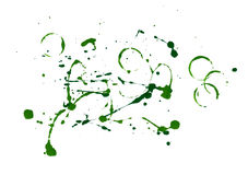 Green paint splatters Royalty Free Stock Image