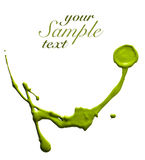 Green paint strokes Royalty Free Stock Image
