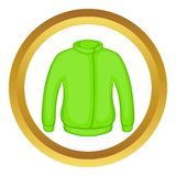 Green paintball jacket vector icon Stock Image