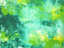 Green painted abstract Stock Photography