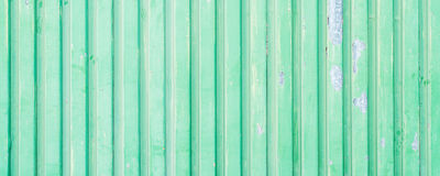 Green painted aluminium wall Royalty Free Stock Photos