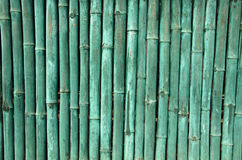 Green painted bamboo wall background Royalty Free Stock Photography