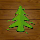 Green painted Christmas tree Royalty Free Stock Image