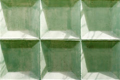 Green painted concrete wall texture with damaged and scratched surface. Abstract background Royalty Free Stock Photos