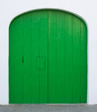 Green painted door with hatch Stock Images