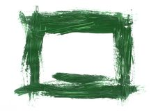 Green painted frame Stock Photo