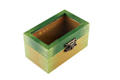 Green painted jewelry box Stock Images