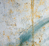 Green painted old metal wall background Royalty Free Stock Images