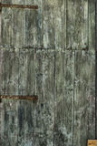 Green painted old wood door Royalty Free Stock Photos