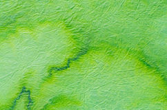 Green painted paper tissue Royalty Free Stock Photo