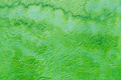Green painted paper tissue background Royalty Free Stock Photos
