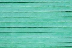 Green painted slats Royalty Free Stock Image
