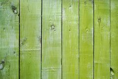 Green painted textural wooden old background Stock Images