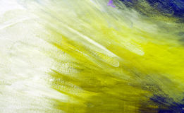 Green painted texture. Abstract background in a free painting style royalty free stock photography