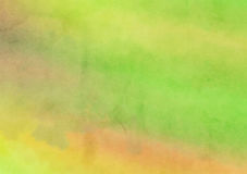 Green Painted Watercolor Wash Canvas Background. A digitally painted watercolour background texture with blended shades and hues royalty free illustration