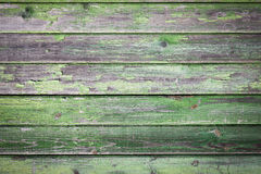 Green painted wood background Stock Images