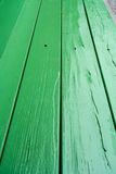 Green painted wood bench structure. Light green Royalty Free Stock Photo
