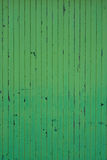 Green painted wood texture. Closeup of stained green painted wood suitable as a texture Stock Photo