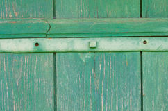 Green painted wooden texture background Stock Image