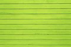 Green painted wooden wall Stock Photo