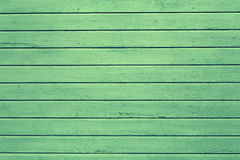 Green painted wooden wall Stock Images