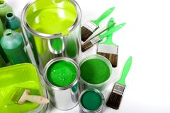 Green painting Stock Photo