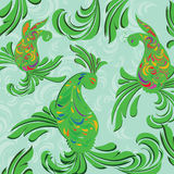 Green Paisley background Stock Image
