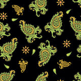 Green paisley stock photos