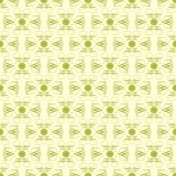 Green and Pale Yellow Damask Seamless Pattern Royalty Free Stock Photos