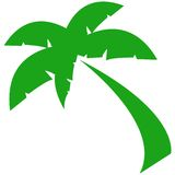 Green Palm Symbol. Original computer illustrated symbol of a palm tree royalty free illustration