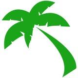 Green Palm Symbol. Original computer illustrated symbol of a palm tree Royalty Free Stock Photos