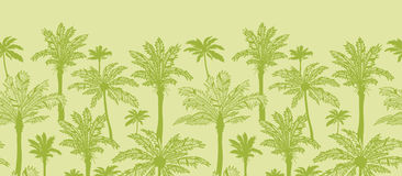 Green palm trees horizontal seamless pattern Royalty Free Stock Photo