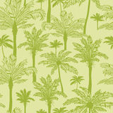 Green palm trees seamless pattern background Royalty Free Stock Photo