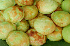 Green Pandan Kind of Thai sweetmeat Stock Photo