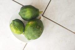 Green papaya. Fresh green papaya makes amazing salad Royalty Free Stock Photography