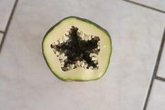 Green papaya. Fresh green papaya makes amazing salad Stock Photography