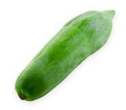 Green papaya. Isolate on white Royalty Free Stock Photos