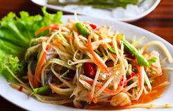 Green papaya salad Royalty Free Stock Photo