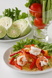 Green papaya salad  Stock Photography