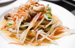 Green Papaya Salad Stock Image