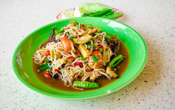 Green papaya salad. Thailand food spicy  foods Stock Photography
