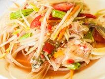 Green papaya salad with crab Royalty Free Stock Image