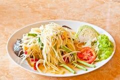Green papaya salad. And crabs Royalty Free Stock Image