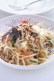 Green papaya salad Royalty Free Stock Images